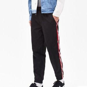 Pacsun men's red/black side stripe track pants L